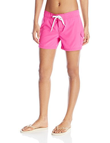 Kanu Surf Women's Breeze Solid Stretch Boardshort, Pink, 4 by Kanu Surf