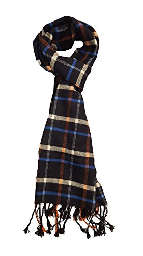 ABC Unisex New Winter Plaid Warm Soft Elegant Cashmere Feel Wrap Scarf 4303