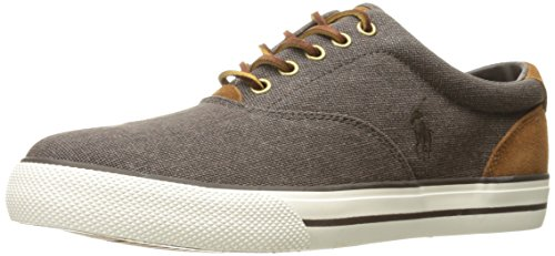 Vaughn Brown Mens Lauren Canvas Ralph Trainers agEwZ11q