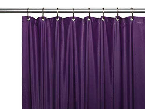 Hotel Collection Heavy Duty Mold & Mildew Resistant Premium PEVA Shower Curtain Liner with Rust Proof Metal Grommets - Assorted Colors (Purple)