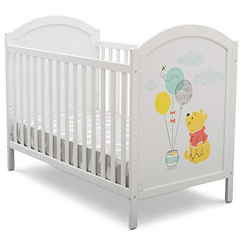 Disney Winnie The Pooh 4-in-1 Convertible Crib by Delta Children, White