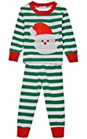 "Arshiner Boys or Girls ""Striped"" 2 Piece Cute Christmas Pajama Set"