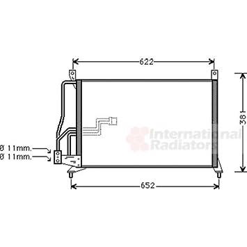 Van Wezel 37005231 Condenser, Air Conditioning
