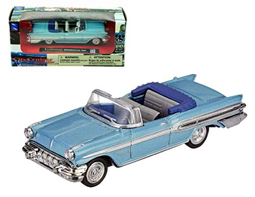 1957 Pontiac Bonneville Convertible NEWRAY Diecast 1:43 Blue ()
