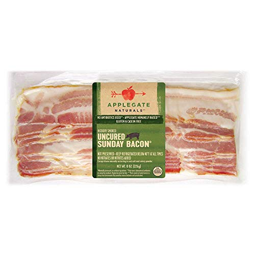 Applegate Uncured Sunday Bacon, 8 Ounce -- 12 per case.