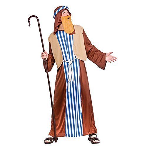 Mens Joseph Costume Outfit Biblical Christmas Panto Fancy Dress 37-48 Adults (Men: Large) by Wicked