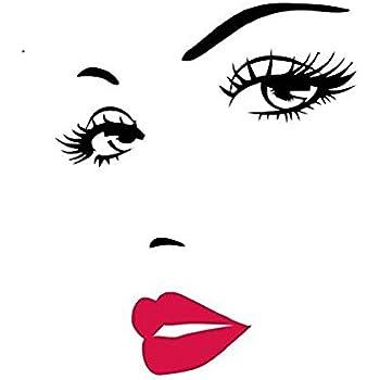 AWAKINK Women's Face Star Decor Nice Sticker Removable Wall Stickers Wall Decor Home Decor Wall Art Bedroom Decor Living Room Decor Sofa TV Background DIY Art Decals