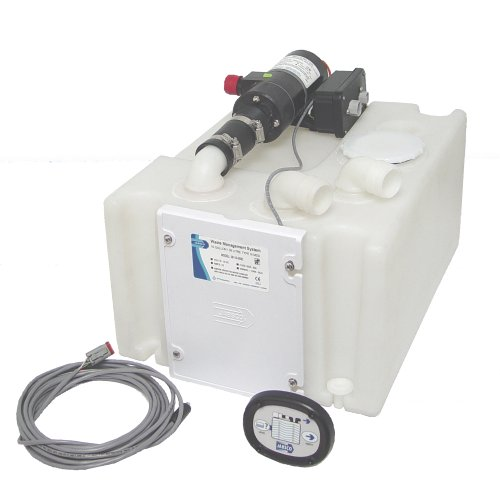Jabsco 38110-0092 Marine Waste 10 Gallon Holding Tank and Pump Management System, 12 Volt, 16 Amp