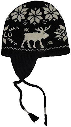 Polo Ralph Lauren Mens Wool Fair Isle Trapper Hat Black-Ivory O/S