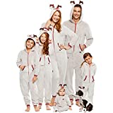 Family Santa's Sleigh Squad Matching Pajamas | Mens Reindeer Onesie Size L
