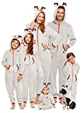 Family Santa's Sleigh Squad Matching Pajamas | Toddlers Reindeer Onesie Size 4T