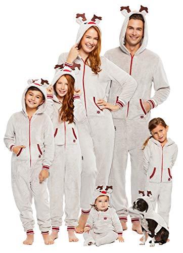 Family Santa's Sleigh Squad Matching Pajamas | Womens Reindeer Onesie Size M -