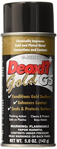 Hosa G5S-6 CAIG DeoxIT GOLD Contact Enhancer 5% Spray, 5 oz (Solution Cleaning Caig Deoxit Spray)