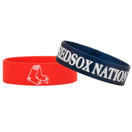 FOCO Boston Red Sox Bulk Bandz Bracelet 2 Pack
