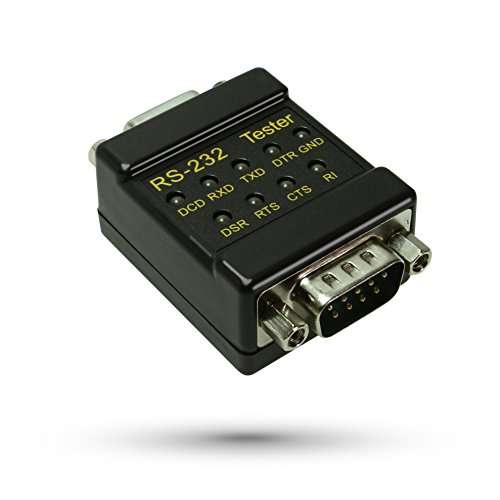 CableMax RS-232 LED link Tester DB-9 Male to DB-9 Female