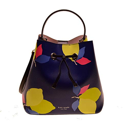 Kate Spade Eva Lemon Zest Large Bucket leather convertible Bag