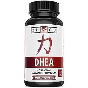 Gut Health Shop 41qgTSwJ9hL._SS300_ Zhou DHEA 50 mg | Hormonal Balance Formula for Women & Men | Healthy Aging | Non-GMO | 60 Veggie Capsules
