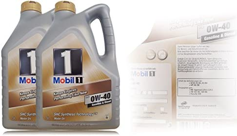 Mobil 1 Fs 0w 40 Synthetic Engine Oil 2 X 5 Auto