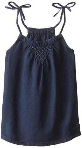 Levi's Big Girls' Woven Tank Top with Tie Shoulder Straps, Indigo Intrigue, Medium