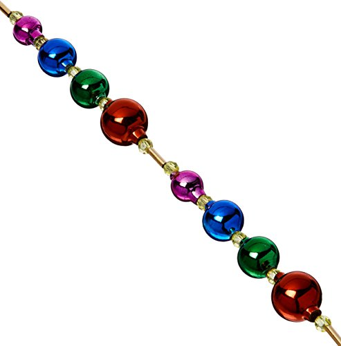 Kurt Adler 6' Glass Bead Multicolor Garland Multi Color Garland