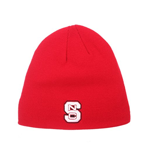 ZHATS North Carolina State Wolfpack Red Edge Skull Cap - NCAA NCSU Cuffless Winter Knit Beanie Toque -