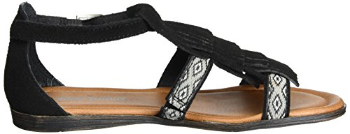 Minnetonka Maui Prin Collection Passport Black Women's Stillwater Sandal xx5wSgpqr