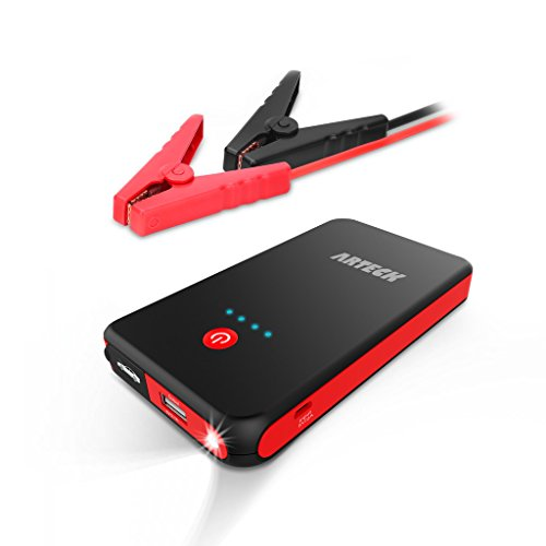 Arteck Car Jump Starter Auto Battery Charger And 8000mAh External Battery Charger Car Jumper For 12V