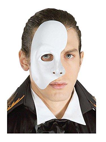 Rubie's Men's Phantom Of The Opera Mask, White, One Size ()