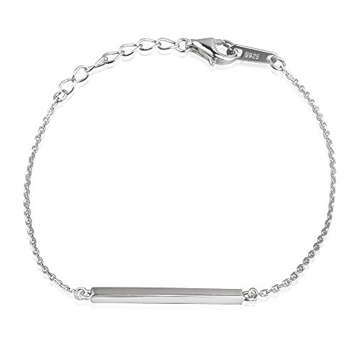 Bar 925 Sterling Silver Bracelet - 1