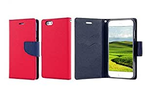 Best Iphone 6 Case, Luxury Leather Iphone 6 Wallet Case, Hit Color Phone Case Cover for Iphone 6 4.7 Inches (red+blue)