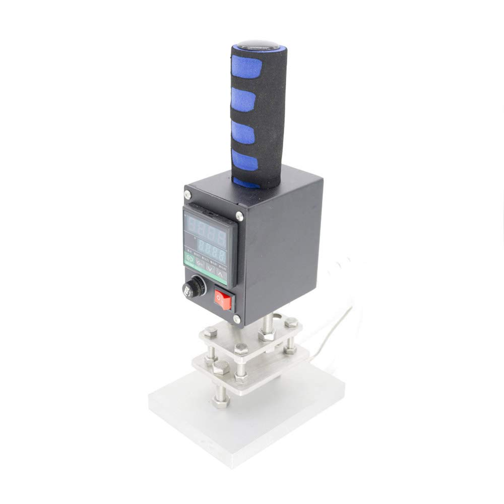 Stamping Machine TBVECHI 80100mm Manual Digital Hot Foil Stamping Machine PVC Card Leather Bronzing 110V