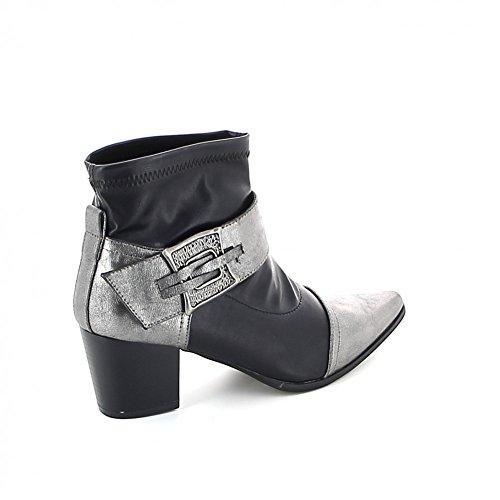 Misstic - Botas de Material Sintético Mujer negro y gris