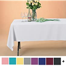 Remedios 60 x 126-inch Rectangle Polyester Tablecloth Table Cover - Wedding Restaurant Party Banquet Decoration, White