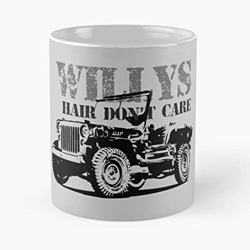 (Willys Mb Jeep 1941 Classic Car Military Vehicle - Morning Coffee Mug Ceramic Novelty Holiday)