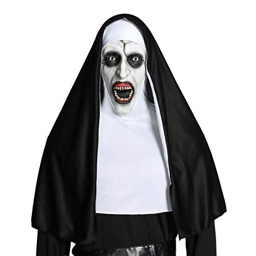 Mokna Nun Valak Mask Deluxe Latex Scary Full Head Cosplay Accessory -