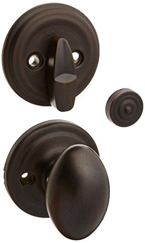 - Kwikset Corporation 99660-158 Laurel Single Cylinder Interior Pack Knob, Venetian Bronze