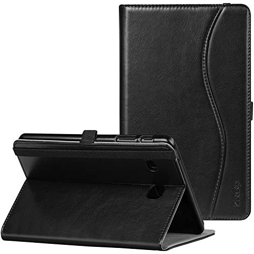 Ztotop Case for Samsung Galaxy Tab E 8.0 2016 Release, Folio Stand Premium Leather Tablet Cover for SM-T375 / SM-T377 / SM-T378, Pencil Holder and Multiple Viewing Angles, Black