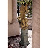"37"" Flying Dragon Gargoyle Home Gallery Garden Statue Sculpture Figurine"