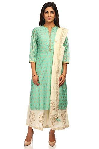 BIBA Women's Sea Green Straight Cotton Silk Suit Set Size 32 by Biba (Image #1)