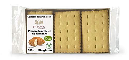 GALLETAS DESAYUNO CON PROTEÍNA DE ALMENDRA LO BLANC - Sin gluten - Sin leche, 185 g: Amazon.es: Alimentación y bebidas