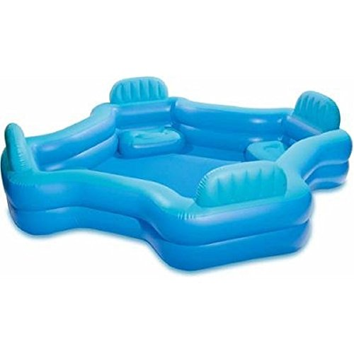 Intex Relax And Keep Cool 57191WL Swim Center Family Lounge Pool, Holds 221 Gallons Water, Blue (Blue Lounge Cool Feet)