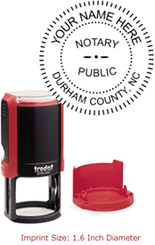 Circular Flame Red Trodat Printy 4642 Notary Stamp | North Carolina (Notary Public Seal)