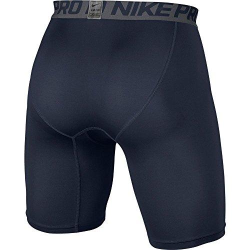 Nike Men's Pro Combat 6'' Compression Shorts Underwear, Obsidian/Dark Grey/White, Large by Nike (Image #2)