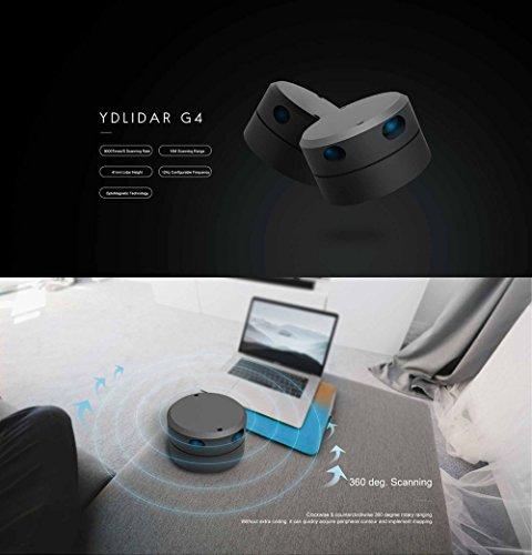 SmartFly info YDLIDAR G4 - Lidar Laser Rangefinder, 2D Laser
