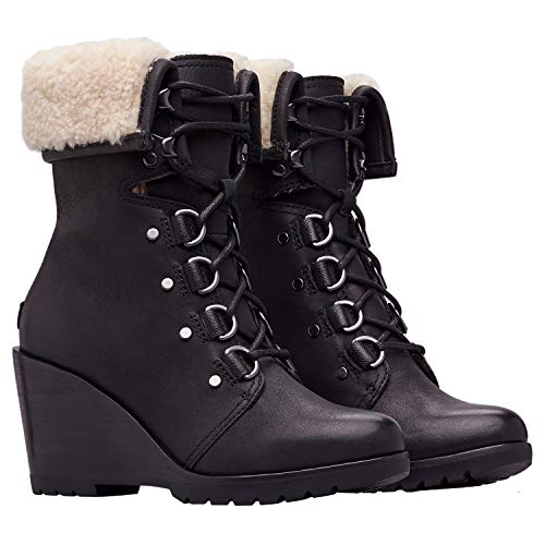 Sorel Women's After Hours¿ Lace Shearling Black Full Grain Leather 7 B US