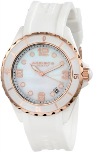 akribos-xxiv-womens-ak502wtr-ceramic-case-with-rose-tone-accents-and-white-rubber-strap-watch