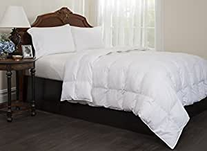 Down alternative comforter overfilled 100 cotton 300 thread count white for Home design down alternative color king comforter