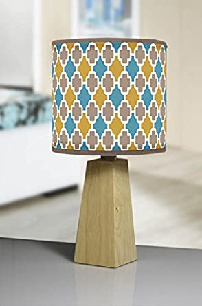 Moderna lámpara de mesa trípode de madera natural hecho a ...