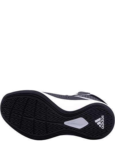 adidas Performance Boys' Cross 'Em up 2016 Basketball Shoe, Black/Metallic Silver/Light Onix, 1 Medium US Little Kid