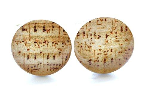 Vintage Style Music Sheet Cufflinks (Sheet Cufflinks Music Classical)